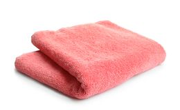 Soft terry towel. On white background Royalty Free Stock Photography