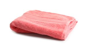 Soft terry towel. On white background Stock Photo