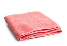 Soft terry towel. On white background Royalty Free Stock Images