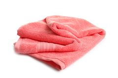 Soft terry towel. On white background Royalty Free Stock Photo