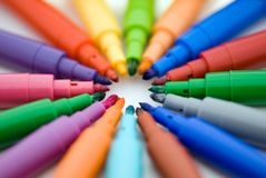 Soft-tip 10. Isolated rainbow soft-tip, office supplies Stock Images