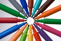 Soft-tip 11. Isolated rainbow soft-tip, office supplies Royalty Free Stock Photo