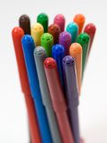 Soft-tip 7. Isolated rainbow soft-tip, office supplies Stock Images