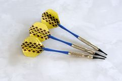Soft tip darts for an electronic dartboard. Royalty Free Stock Photography