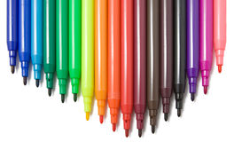 Soft-tip pens Royalty Free Stock Photos