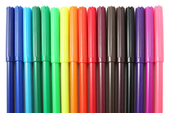 Soft tip pens Royalty Free Stock Photos