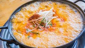 Soft tofu soup Stock Images