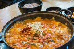 Soft tofu soup Stock Photo