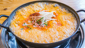 Soft tofu soup Stock Image