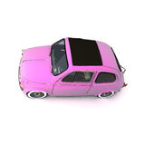 Soft top pink retro car Stock Photos
