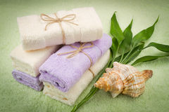Soft towels from bamboo Royalty Free Stock Image