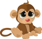 Soft toy. A sad monkey Stock Photos