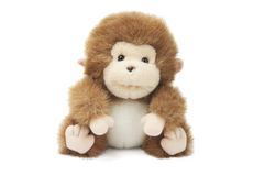 Soft Toy Baby Monkey. On White Background royalty free stock images