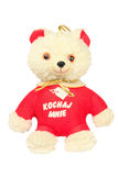 Soft toy bear with a heart Stock Photography