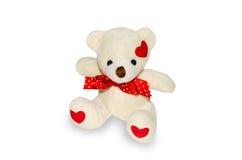 Soft toy bear. White closeup isolated on white background Stock Images