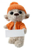 Soft toy with a blank stock photos