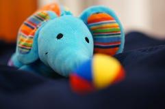 Soft toy elephant Stock Images