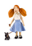 Soft Toy Girl And Dog Stock Photo