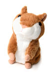Soft toy hamster isolated on white background Royalty Free Stock Photos