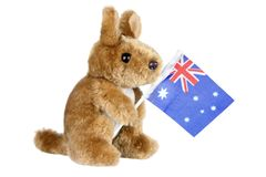 Soft Toy Kangaroo Stock Photo