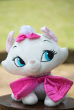 Soft toy kitty Cat. With pink years royalty free stock image