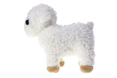 Soft Toy Lamb. On White Background royalty free stock photography