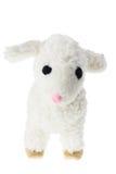 Soft Toy Lamb. On White Background stock image