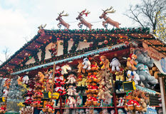 Soft toy market stall Stock Image