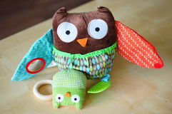 Soft toy owl Stock Photo