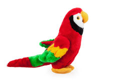 Soft toy parrot. Isolated on white background Stock Photo