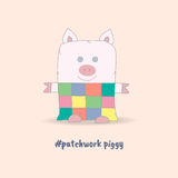 Soft Toy Patchwork Piggy Royalty Free Stock Photography