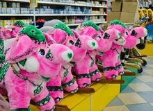 Soft toy - a pink elephant Royalty Free Stock Photo