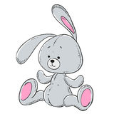 Soft toy plush rabbit. Vector Royalty Free Stock Photos