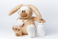 A soft toy rabbit stock image