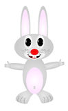 Soft toy - rabbit (hare) Royalty Free Stock Image