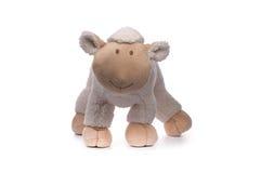 Soft toy sheep. On white Royalty Free Stock Photo