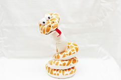 Soft toy snake. Royalty Free Stock Images