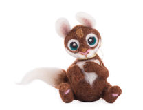 Soft toy squirrel. Royalty Free Stock Photography