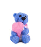 Soft toy teddy with heart. Stock Photos