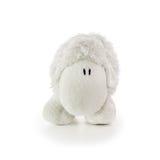 Soft Toy White Lamb. Isolated on a white background stock photo