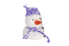 Soft toy-white snowman Royalty Free Stock Images