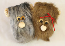 Soft Toys. A pair of monster soft toy Royalty Free Stock Photography