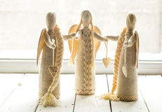 Soft toys angels Stock Image