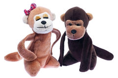 Soft toys,monkey Royalty Free Stock Images