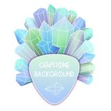 Soft triangle label with crystal splash Stock Photos