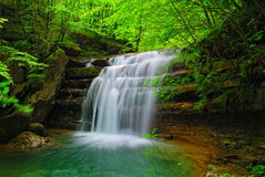 Soft tropical cascade Royalty Free Stock Photos
