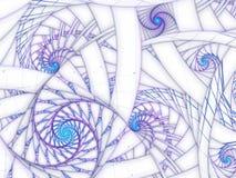 Soft violet fractal spirals, digital artwork Stock Photo