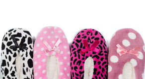 Soft warm slippers Stock Photography