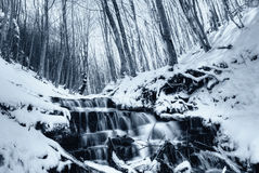 Soft water in december in the natural park Stock Photo
