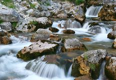 Soft water river Stock Photography